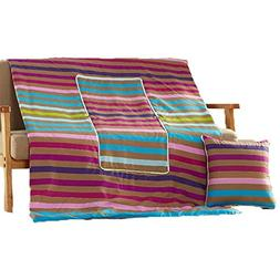 "2-In-1 Combo! Pillow 18""x18""x6"" Change To Blanket When You N"
