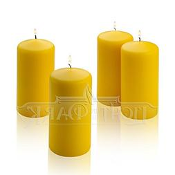 1 Yellow Citronella Scented Pillar Candle 6 Inch Tall X 3 In