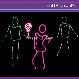 10 Colors Led Neon String Glowing Suits Stage Dance Party <f