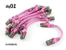 Pink 10-PACK 6 inch CAT6 Network UTP Ethernet RJ45 Full 8-Wire Patch Cable