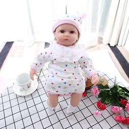 16 inch Lifelike Baby Girl Doll Soft Silicone Dolls with Clo