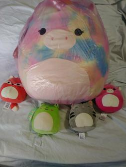 """16 """" Inch Squishmallow Unicorn Tye Die or other...Plus one 6"""