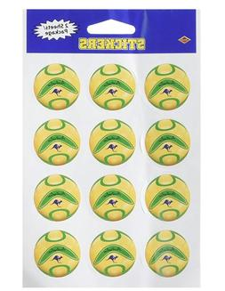 Beistle 2-Pack Stickers, 4-Inch by 6-Inch, Australia