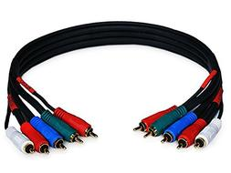 1.5ft 22AWG 5-RCA Component Video/Audio Coaxial Cable  - Bla