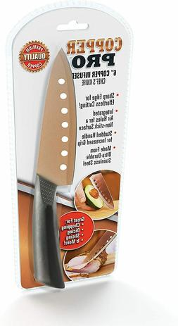 2pk Copper 6 Inch Chef Kitchen Knives Professional Super Sha