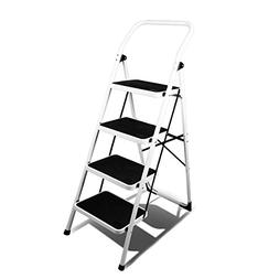 Magshion 4 Step Ladder Platform Lightweight Folding Stool He