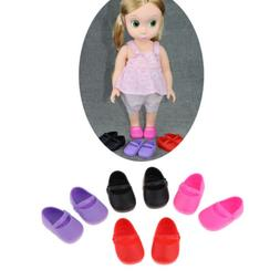 4 Pairs Single Shoes Flats for 16inch Sharon Doll Clothing A