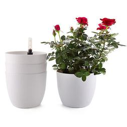 4x T4U 6 Inch Plastic Self Watering Planter with Water Level
