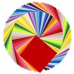 Caydo 50 Vivid Colors 200 Sheets Origami Paper 6-Inch By 6-I