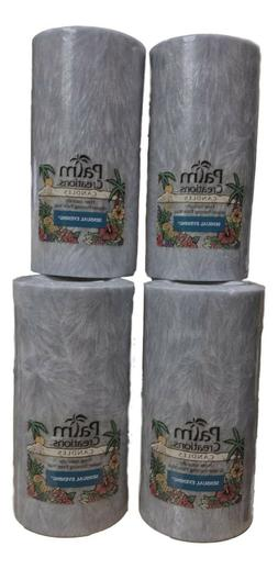 6 Ct. Nature's Finest Palm Creations Candles 6 Inch Pillars