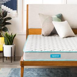 LINENSPA 6 inch Innerspring Mattress with Quilted Cover - Tw