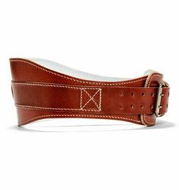 6 Power Leather Lifting Belt in Natural Leather, S