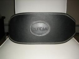 Altus 6 Inch Padded Leather Black Weight Lifting Belt Size M