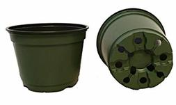 "6 Inch Pots, , 6"" Round Nursery and Greenhouse Pots,, Green"