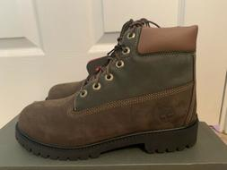 TIMBERLAND 6 INCH PREM DARK BROWN YOUTH BOOTS   4-7Y