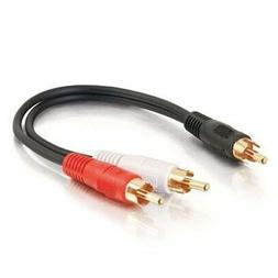 Black Digital Kynect 6ft 1//4-inch Mono Male to RCA Male Audio Adapter Cable