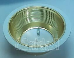 6 INCH RECESSED LIGHT STEP BAFFLE FOR R30 R40 GOLD BRASS REF
