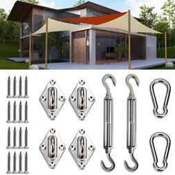 6 inch Rectangle Square Sun Shade Sail Stainless Steel Hardw