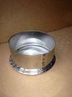 6 Inch Stainless Steel Stove Pipe Tee Cap Made in Maine, USA