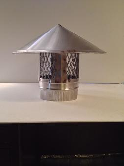 6 inch stove pipe Stainless Steel Chimney Cap!! Made in Main