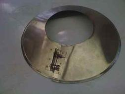 6 Inch stove pipe Stainless Steel Storm Collar -- Made in MA