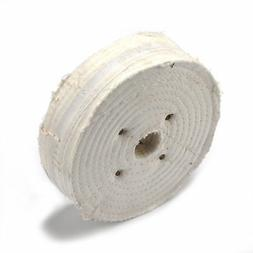 6 Inch White Cloth Buffing Wheel Polishing Disc For Fine Met