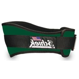 6 Nylon Workout Belt, Large, Forest Green