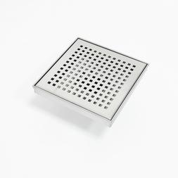 6 X 6 Inch Shower Square Linear Floor Drain – Brushed Full