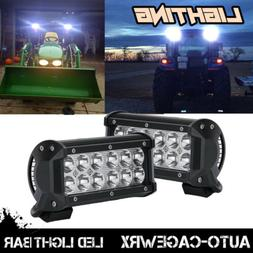 "6inch 7"" LED Work Lights Fog Lamps Tractor Trailer Combo Kit"