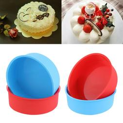 6inch Round Pattern Cake Mold Pan Tray Muffin Mould Silicone