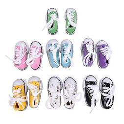 7.5cm Canvas Shoes BJD Doll Toy Mini Doll Shoes for 16 Inch
