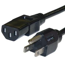 DTOL 5' 18 AWG 3 Prong Universal Standard AC Power Cord Conn