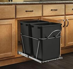 Rev-A-Shelf - RV-18KD-18C S - Double 35 Qt. Pull-Out Black a
