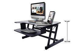 Rocelco ADR Standing Desk - Height Adjustable Sit Stand Desk