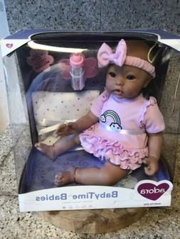"""Adora BabyTime Lavender 16"""" Girl 3 Piece Weighted Play Doll"""