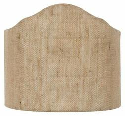 Beige Linen 6 Inch Wall Sconce Shield Lamp Half Shade