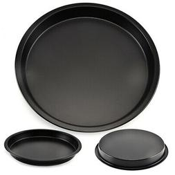 Black Metal Pan Pizza Cake Bake Mould Mold Bakeware 8in Roun