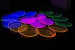 Blacklight Reactive 6 Inch Plastic Party Plates- 40 ct.