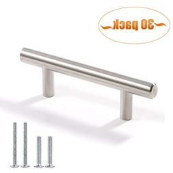 Aybloom Cabinet Handles - Pack of 30 Stainless Steel Brushed