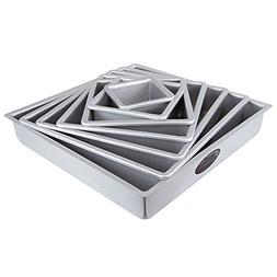 Cake Pan Set of 7, Square 2 Inches Even  by Fat Daddio's