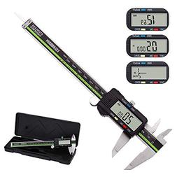 Digital Caliper Stainless Steel Body with Large LCD Screen 6
