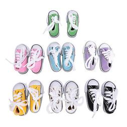 Canvas Shoes 7.5cm Doll Toy Mini Doll Shoes for 16 Inch Shar
