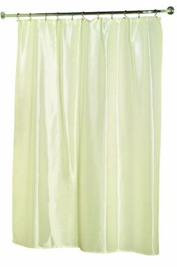 Carnation Home Fashions Lauren Solid Dobby Fabric Shower Cur