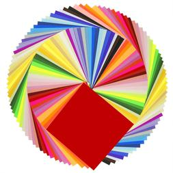 Caydo 50 Vivid Colors 200 Sheets Origami Paper 6-Inch by for