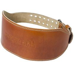 Harbinger Classic Oiled Leather Weightlifting Belt, 6-Inch,