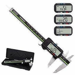 Digital Calipers Caliper Stainless Steel Body Large LCD Scre