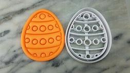 Easter Egg Cookie Cutter 2-Piece, Outline & Stamp #5 Easter