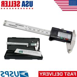 "6"" 150mm Electronic LCD Digital Vernier Caliper Gauge Stainl"