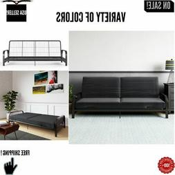 Full Size Futon Sleeper Sofa Bed Frame with 6 Inch Mattress