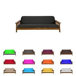 Futon Mattress Cover Solid Color Choose Color Size Twin Full